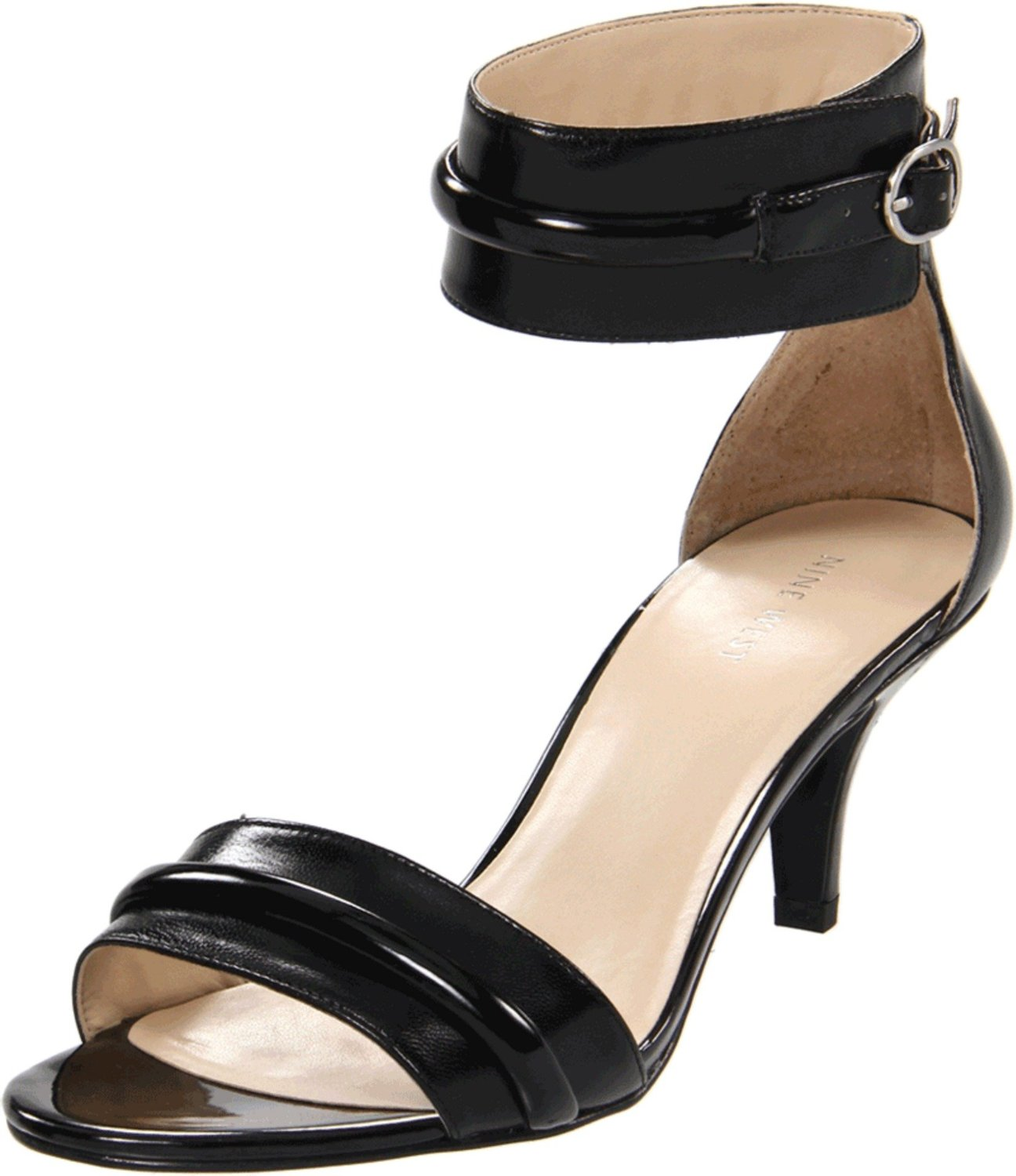 Ankle Strap Low Heel Sandals - Qu Heel