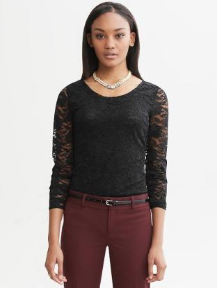 BR lace tee
