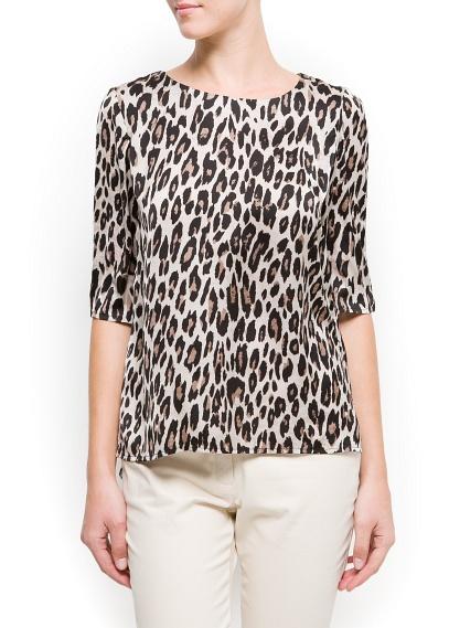 Mango leopard top