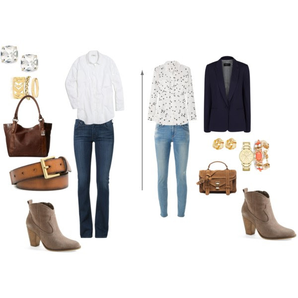 Heeled Ankle Boots - Jeans