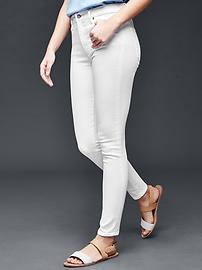 STRETCH 1969 true skinny high rise jeans - white